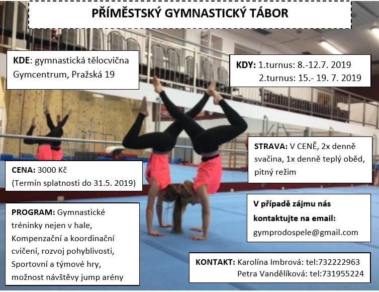 Příměstský gymnastický tábor